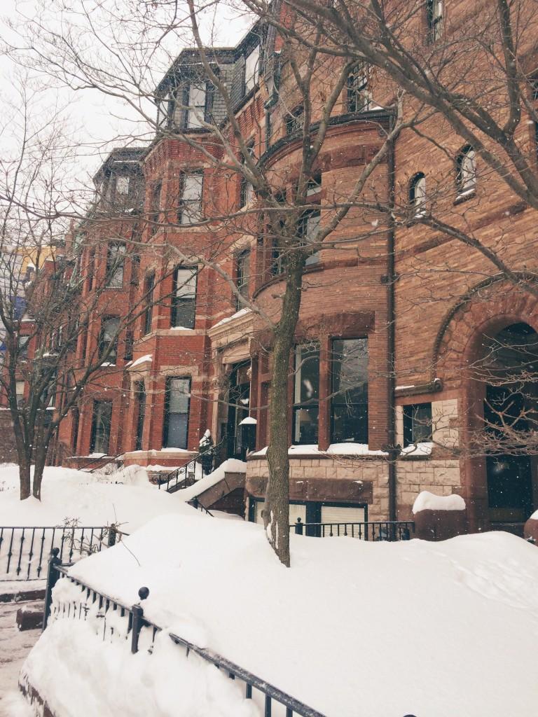 back bay boston snow