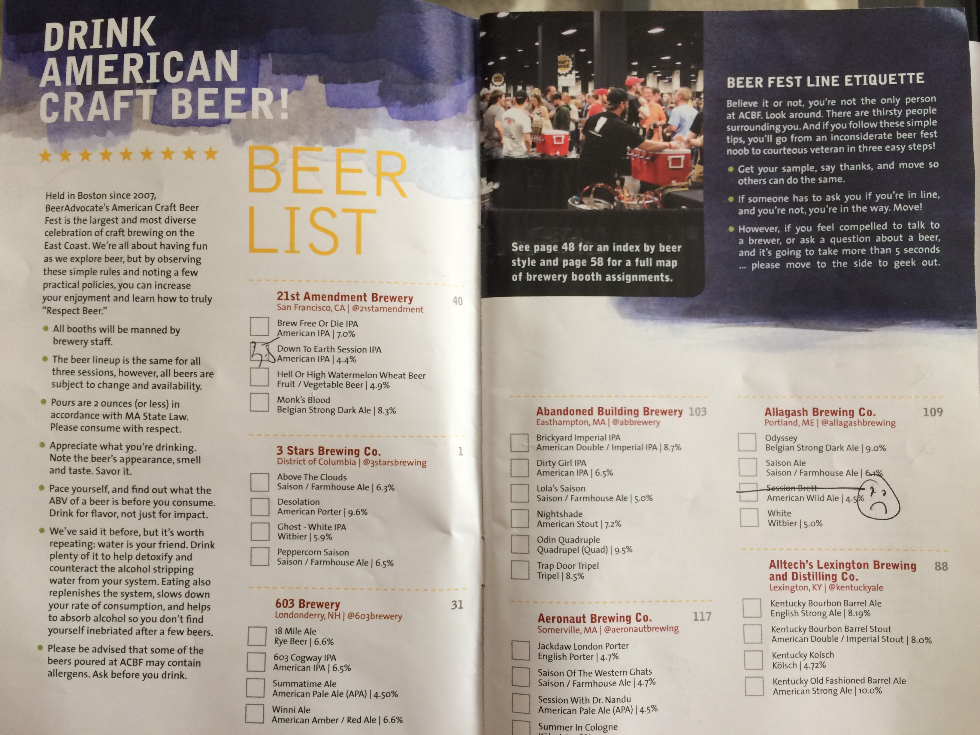 american craft beer fest beer list program