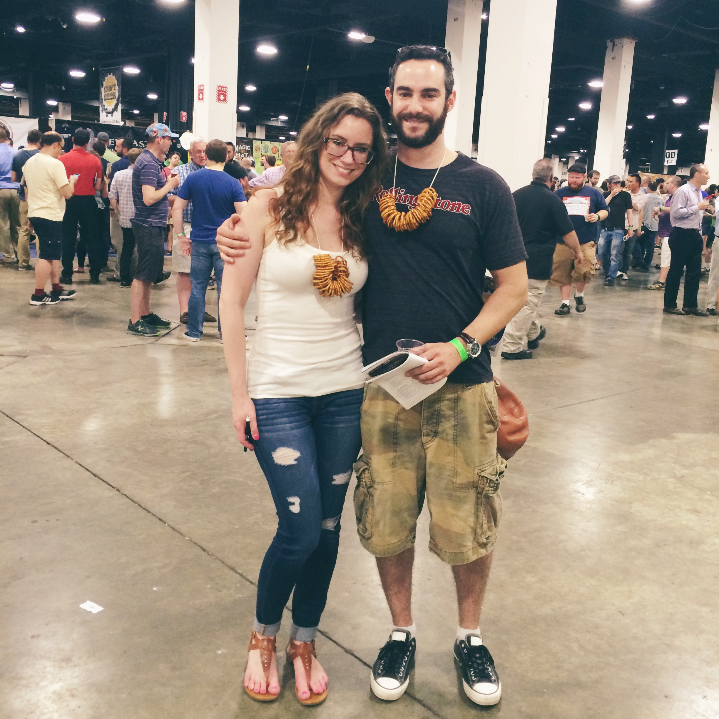 beer fest pretzel necklaces