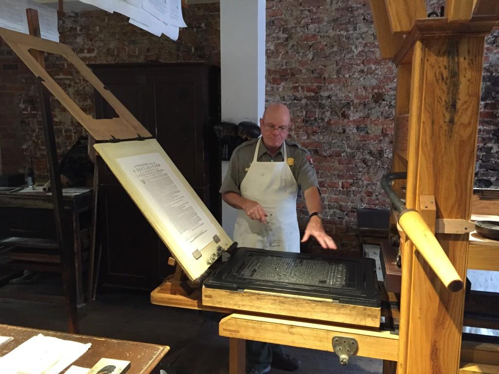ben franklins print shop philadelphia