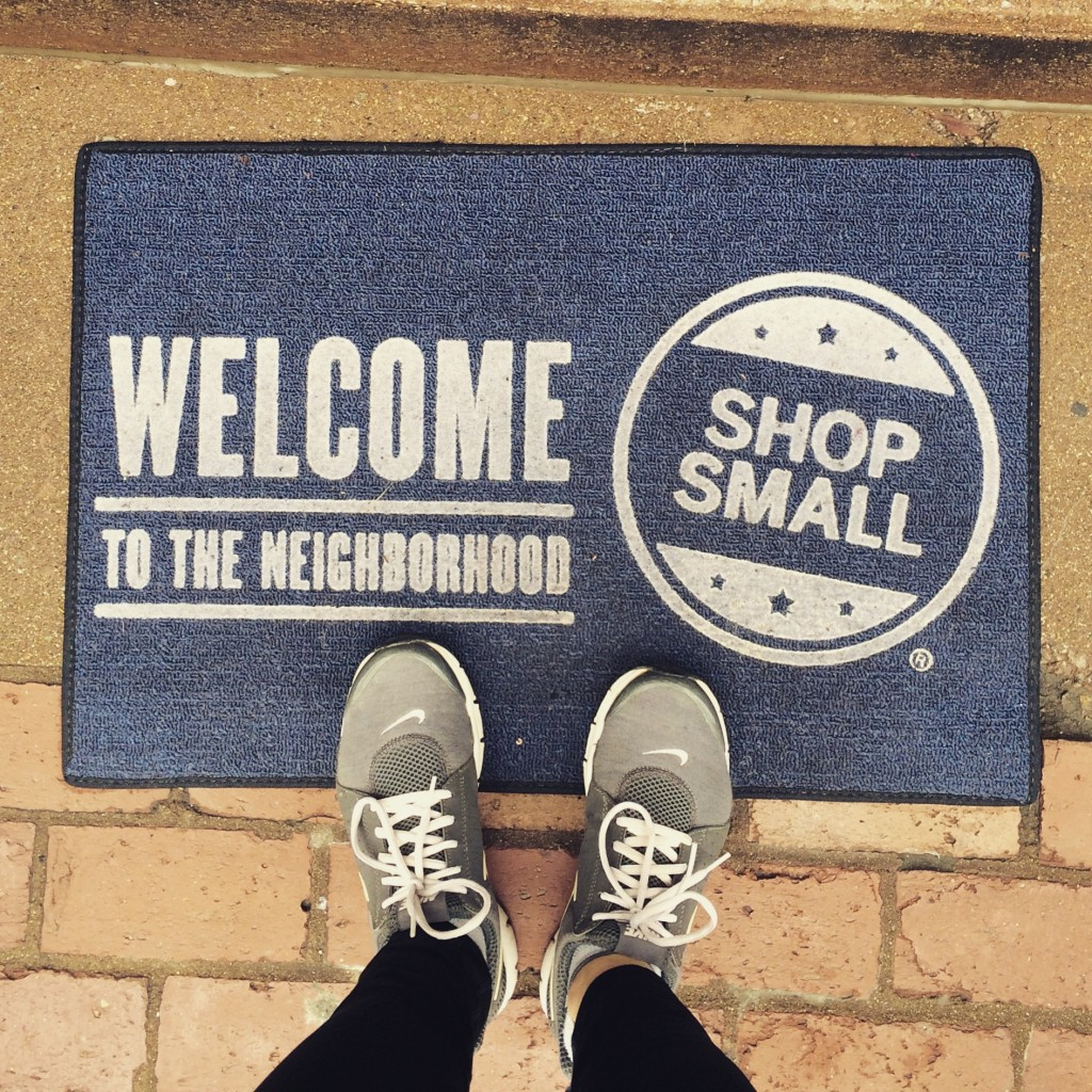 shop small small business welcome mat
