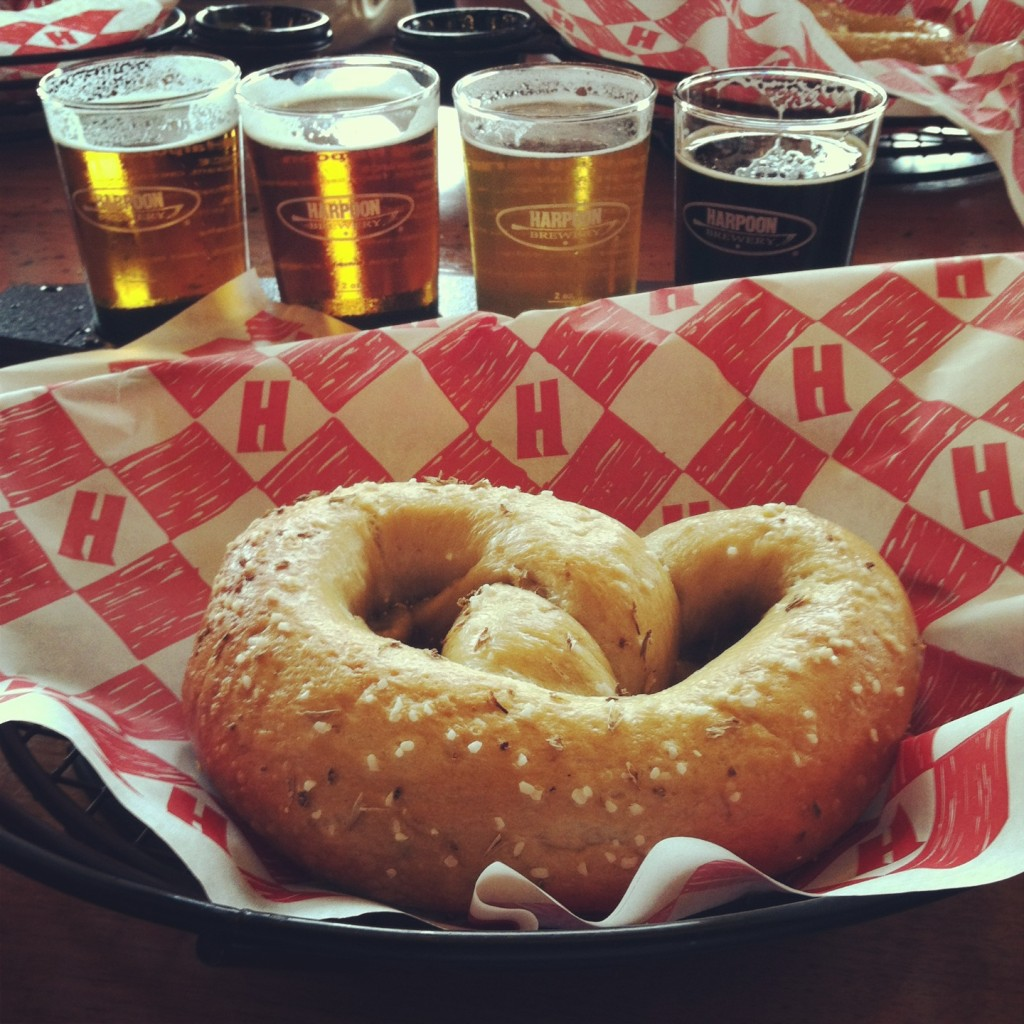 pretzel and beer harpoon brewery boston
