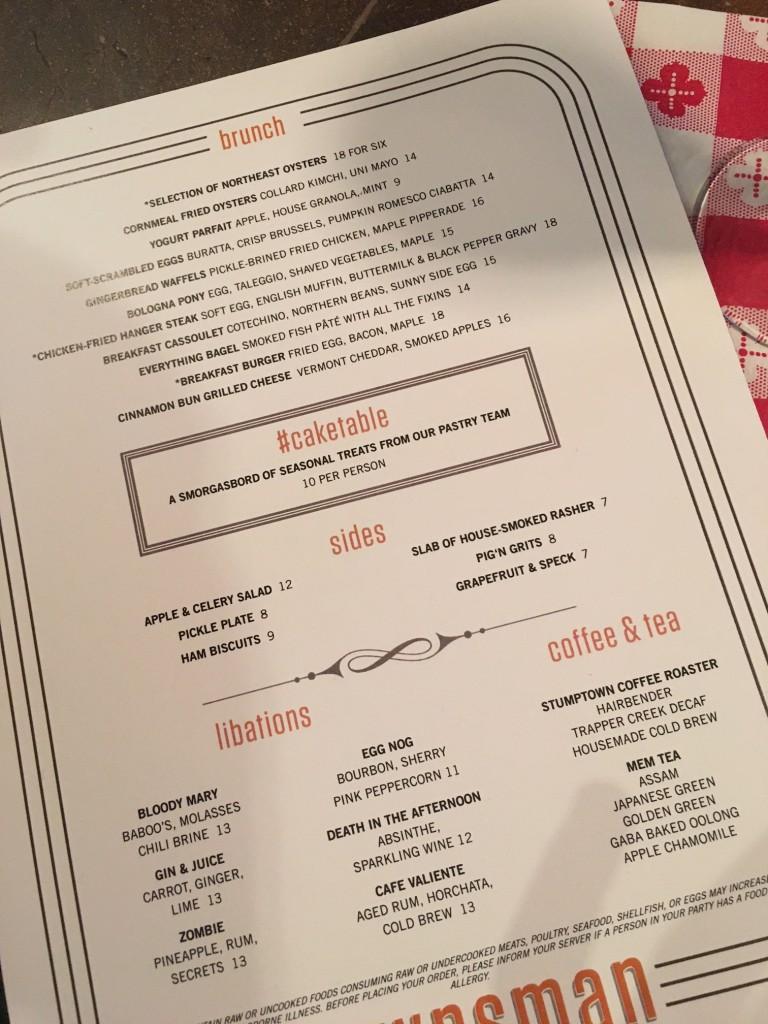 townsman boston brunch menu