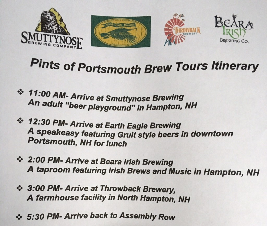 boston to portsmouth beer tour