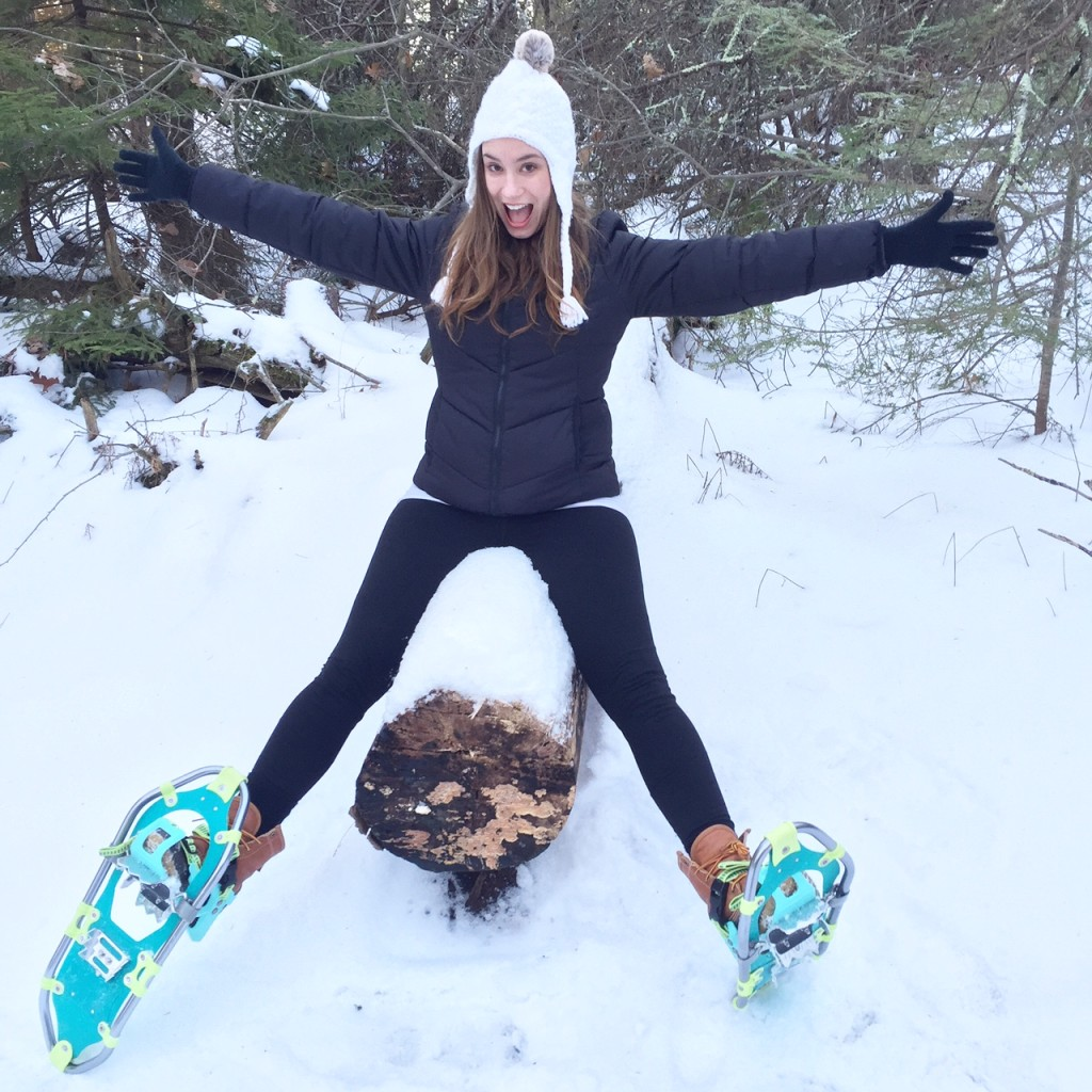 snowshoe wolfes neck state park freeport maine