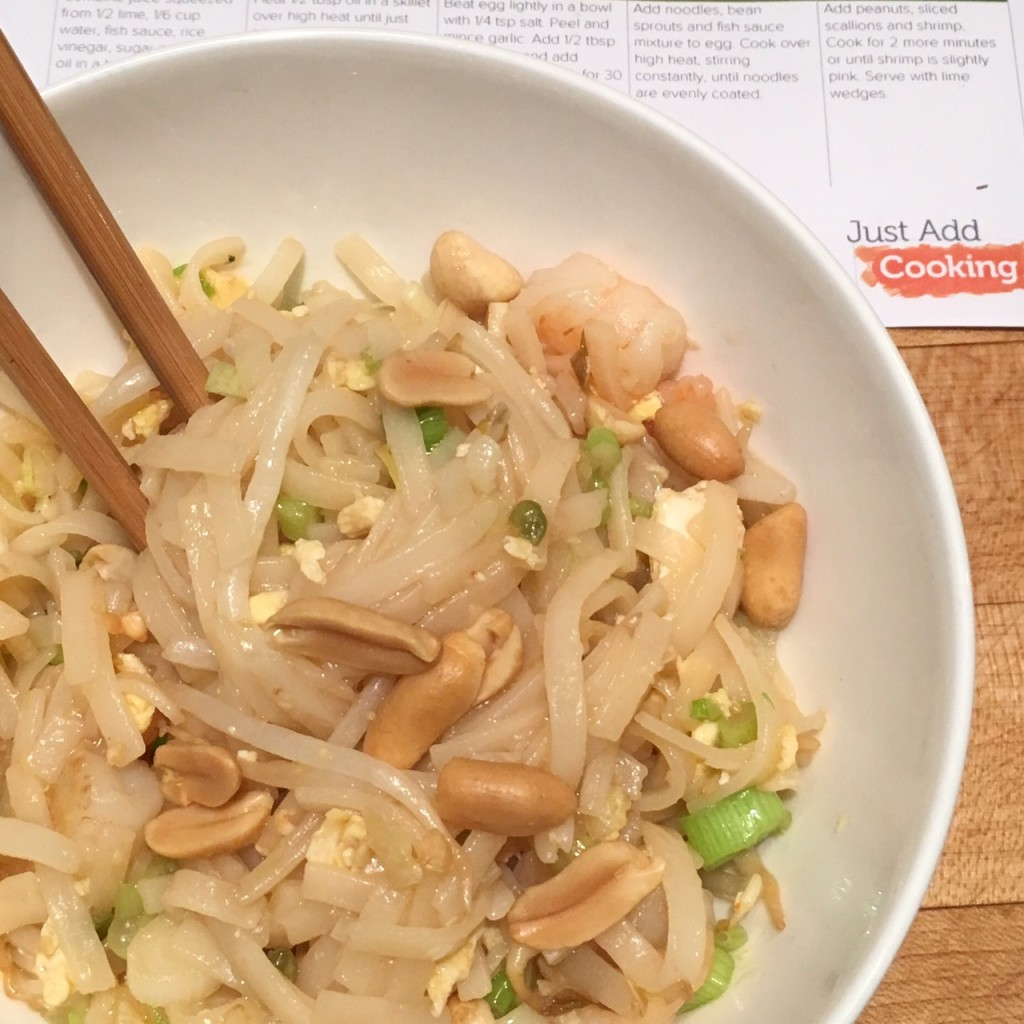 just add cooking pad thai