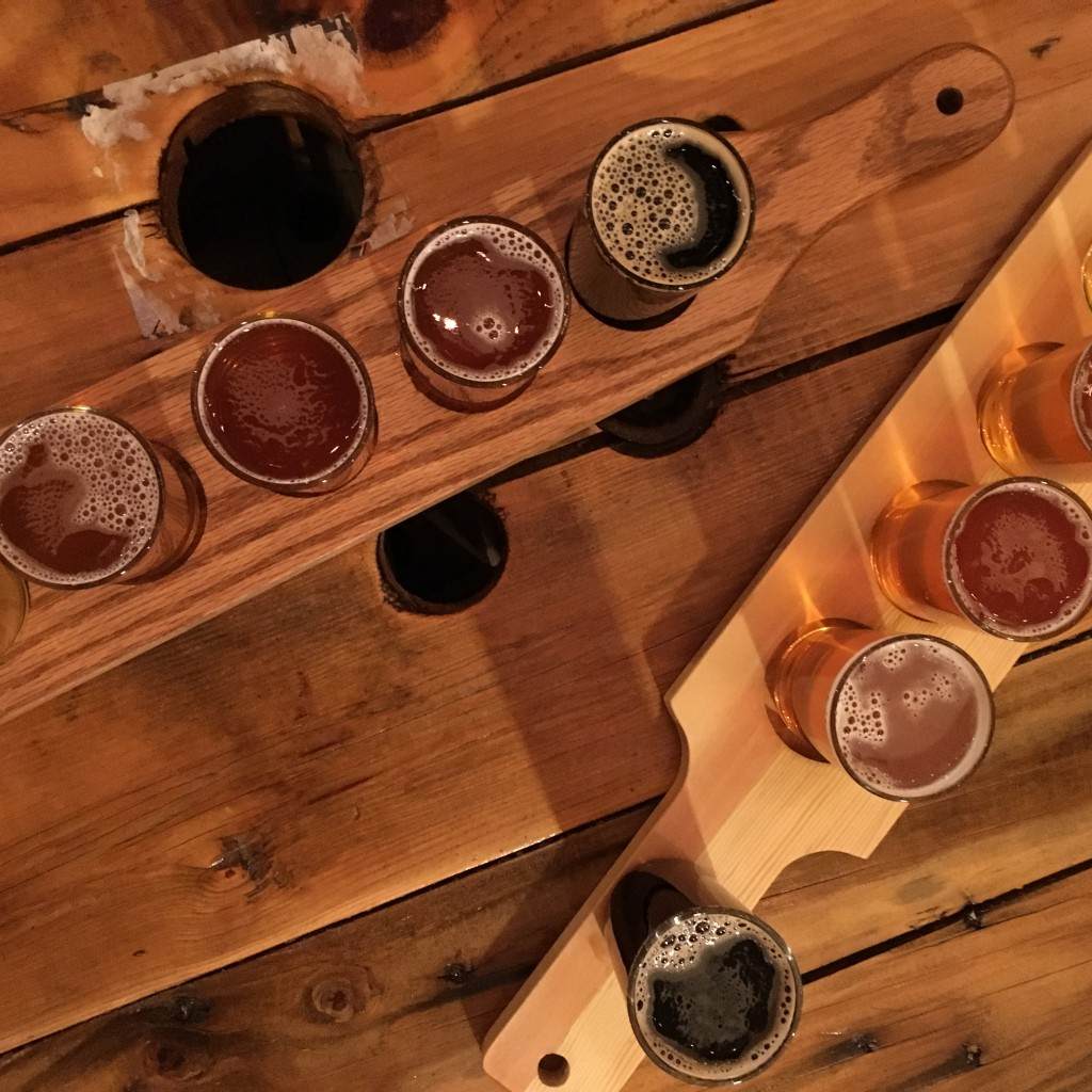 abandoned building brewery craft beer flight