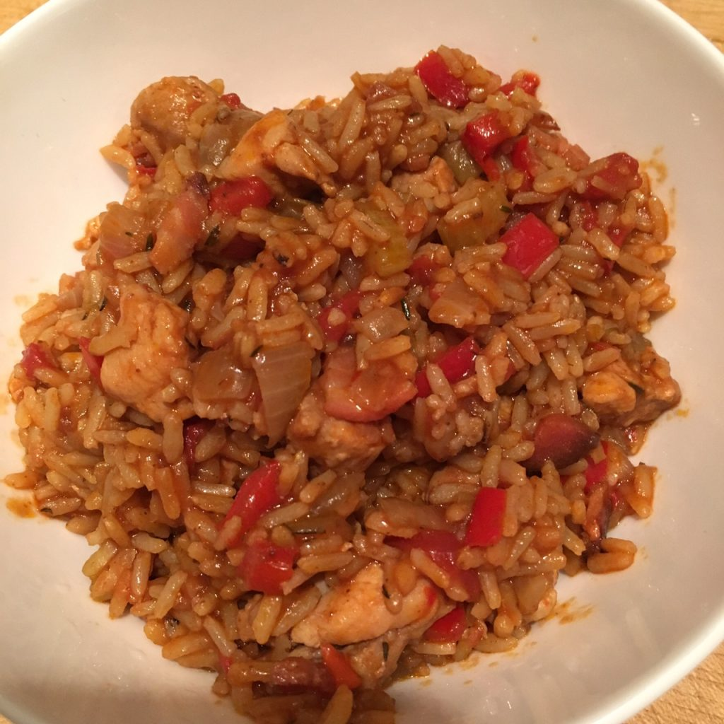 just add cooking jambalaya